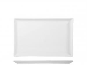 Piatto In Porcellana Bianco Rettangolare Cm20x30xh2 B1741