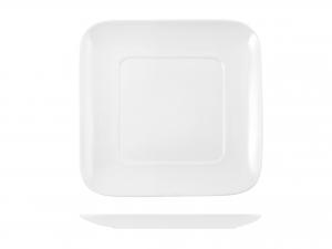 Piatto Quadrato In Porcellana, 30,5x30,5 Cm, Bianco