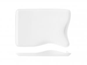 Piatto Rettangolare In Porcellana, 30,5x21 Cm, Bianco