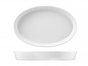 H&h Pirofila Porcellana Ovale 45x29xh6 Strumenti Da Cucina
