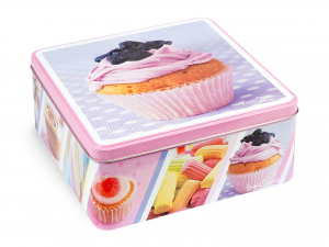 Scatola Latta Quadro Candy Cm15xh6