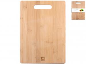 Tagliere In Bambù Con Impugnatura, 35x25 Cm