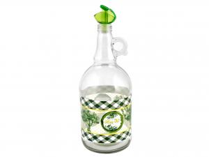 Oliera In Vetro Decoro Olive 1,5 Con Manico 151331