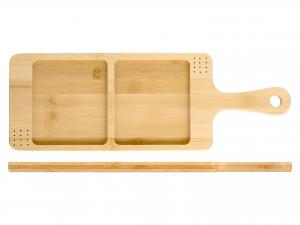 H&h Tagliere Bambu, 2 Posti, 43x15cm