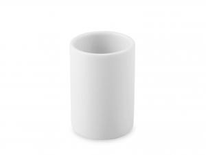 Portastecchini In Porcellana, ø3 - H4,5 Cm, Bianco