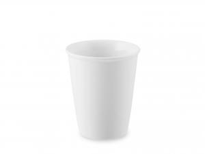 Bicchiere In Porcellana, ø8 - H9,5 Cm, Bianco