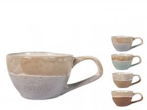 4 Tazze Te' In Stoneware Malika Senza Piatto Colore Assortit
