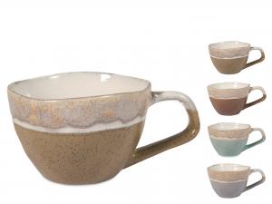 4 Tazze Jumbo In Stoneware Malika Colore Assortiti Cc510