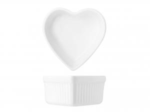 Ramequin Porcellana Bianco Cuore 9xh4,5  A8222