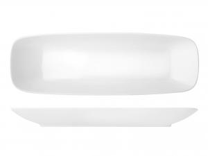 Piatto Rettangolare In Porcellana, 43,5x14,5 Cm, Bianco