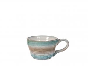 4 Tazze Caffe' In Stoneware Java Senza Piatto Colore Assorti