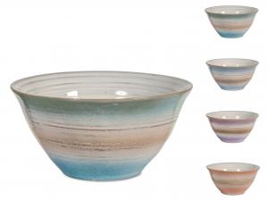 4 Scodelle In Stoneware Java Colore Assortiti Cm14
