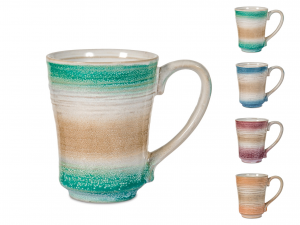 4 Mug In Stoneware Java Colore Assortiti Cc235