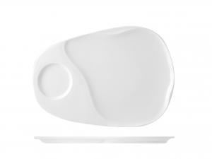 Piatto In Porcellana, 28x19 Cm, Bianco