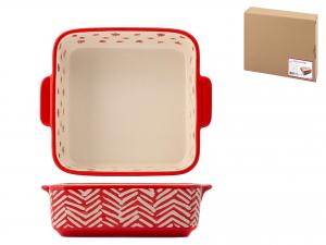 H&h Rouge Pirofila Quadra, Stoneware, 20cm