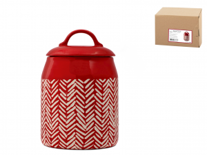 H&h Rouge Barattolo, Stoneware, Con Coperchio, 13xh20cm