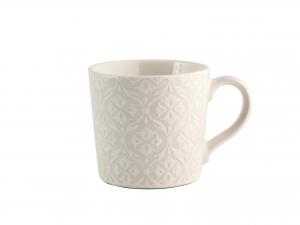 6 Tazze Caffe' In Stoneware Decoro Assortito Senza Piatto Cc80
