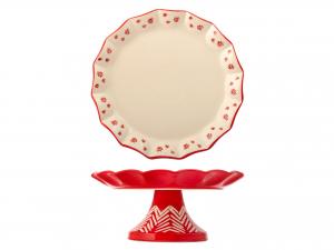 H&h Rouge Alzata, Stoneware, 20xh9.5cm