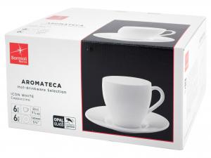 Bormioli Rocco Aromateca Confezione 6 Tazze, In Vetro Opale,