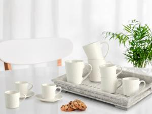 6 Mug In Stoneware Decoro Assortito Cc300
