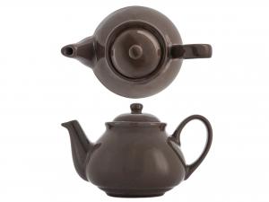 H&h Teiera In Ceramica Marrone Cc 1100