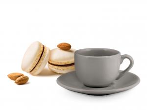H&h Set 6 Tazze Caffe Con Piattino Ceramica Adeline Grigio10