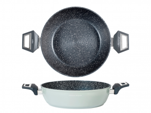 H&h Alessandro Borghese Gourmet Tegame Antiaderente, Cm 24,