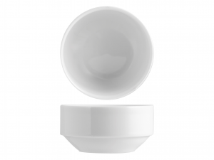 Coppetta Impilabile Porcellana Merano Bianco Cm08
