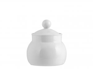 Zuccheriera Porcellana Merano Bianco Con Coperchio Cc350