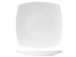 Piatto In Porcellana, 29x29 Cm, Bianco