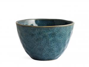 4 Bowl In Stoneware Mykonos Blu Cm15,5
