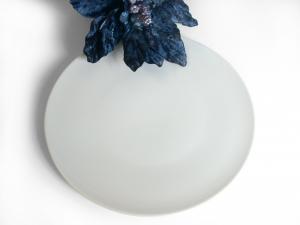 Piatto In Porcellana Royal Zen Bianco Tondo 32