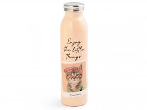 Home Cats Bottiglia Termica Inox 18/10, Lt 0,6