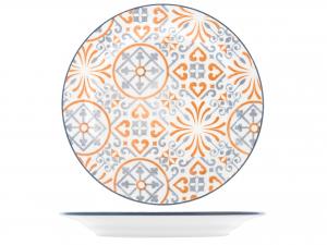 Confezione 6 Piatti In Stoneware Capri Frutta Cm20