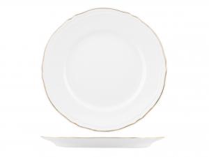 Piatto In Porcellana Alba Gold Tondo Cm 31