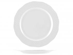Piatto In Porcellana Arianna Bianco Tondo Cm30,5