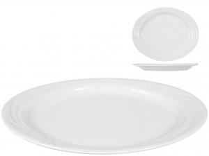 Piatto In Porcellana Arcadia Bianco Ovale Cm37
