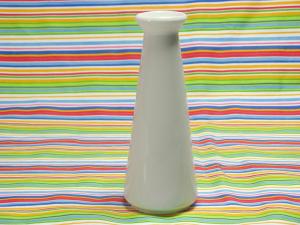 Vasetto Monofiore Porcellana Bianco Cm16 1698