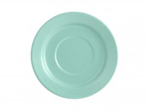 6 Piattini Per Jumbo In Stoneware Azzurro Cm17