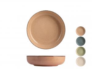 H&h Pearl Set 4 Coppette, Porcellana, Assortite, 15cm