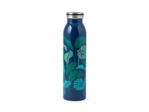 H&h Bottiglia Termica Inox 18/10, Decoro Foglie, 0,60lt