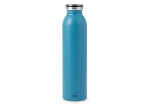 H&h Bottiglia Termica Inox 18/10, Azzurro, 0,75lt