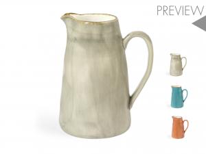 H&h Mediterranea Brocca, Porcellana, Lt1.5, Colori Assortiti