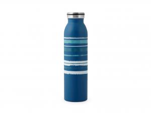 H&h Bottiglia Termica Inox 18/10, Righe Blu, Lt 0,60
