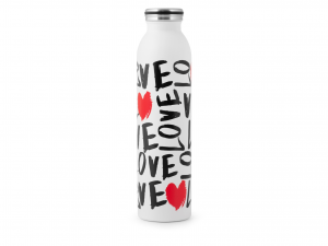 H&h Bottiglia Termica Inox 18/10, Love, Lt 0,75