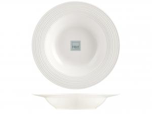 6 Piatti In Porcellana Newport Bianco Ala Fnd22,5
