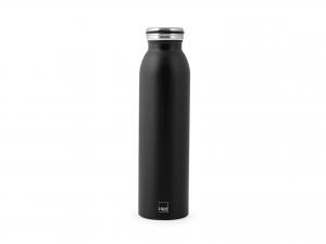 H&h Bottiglia Termica Inox 18/10, Nera, Lt 0,60