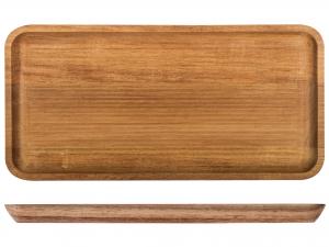 H&h Vassoio Rettangolare Acacia, 35x17cm