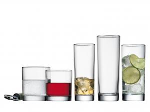 Confezione 6 Bicchieri In Vetro Cortina Whisky Cl22