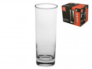 Confezione 6 Bicchieri In Vetro Cortina Long Drink 32